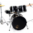 Drum set on white - studio shot — Stock Photo #10557552