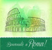 Greeting Card from Roma — Stock Vector