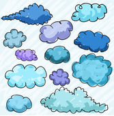 Hand drawn clouds — Stock Vector