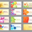 Business cards collection — Stock Vector