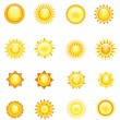 Royalty-Free Stock : Sun collection