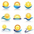 Sun icon collection — Stock Vector #8355905