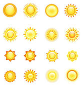 Sun collection — Stock Vector