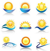 Sun icon collection — Stock Vector