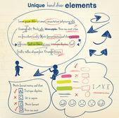 Hand draw elements — Stock Vector