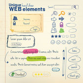 Hand draw elements — Vecteur