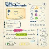 Mão desenhar elementos — Vetorial Stock