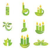 Candle icon set — Stock Vector