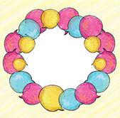 泡沫的圈子 — 图库矢量图片