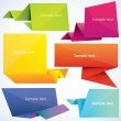Set of origami banners - Stock Vector