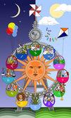 Zodiacal carousel — Stock Vector