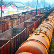 Railway containers and tanks - Stock Photo