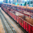 Railway containers - Stock Photo