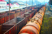 Railway containers and tanks — Foto Stock