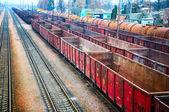 Railway containers — Stock Photo