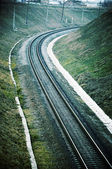 Railway in taking out — Stock Photo