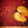 Royalty-Free Stock Photo: Art grunge background baked apple