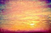 日没の黄色い雲. — ストック写真