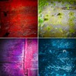Collection of rusty old texture — Stock Photo