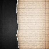 Rip black paper background — Stock Photo