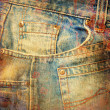 Abstract grunge jeans background - Photo