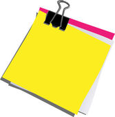 Blank post it — Stock Photo