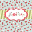 Hand drawn Vector floral frame with a word &amp;quot;mother&amp;quot; - Stock Vector