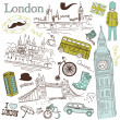 Wektor stockowy : London doodles