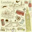 London doodles — Image vectorielle