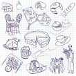 Royalty-Free Stock Imagem Vetorial: Food doodles