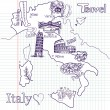 Royalty-Free Stock Vector Image: Creative map of Italy