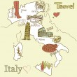 Creative map of Italy — Stock Vector #10377222