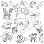 Food doodles — Stock Vector