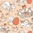 图库矢量图片: Vintage Easter Seamless background