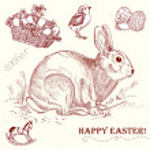 Vintage Easter rabbit — Stock Vector