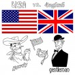 Americversus Great Britain — Vector de stock #10377599