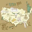 Stylized map of America - Stock Vector