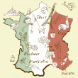 Stylized map of France — Stockvector #10377644