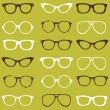 Trendy seamless pattern - different frames of spectacles — Stok Vektör