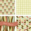 Vettoriale Stock : Set of Retro patterns