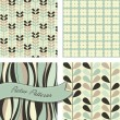 Set of Retro patterns — Vector de stock #10377767