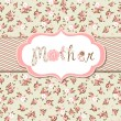 Hand drawn Vector floral frame with a word &amp;quot;mother&amp;quot;. - Stock Vector