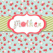 "Hand drawn Vector floral frame with a word ""mother"" — 图库矢量图片"