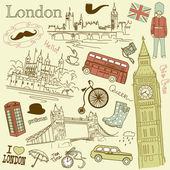 London doodles — Stock Vector