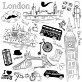 London doodles — Vector de stock