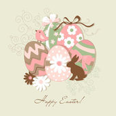 Template of beautiful Easter greeting card — Stock Vector