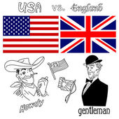 America versus Great Britain — Vector de stock