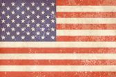 Bandera americana vintage — Vector de stock