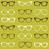 Trendy seamless pattern - different frames of spectacles — Stock Vector