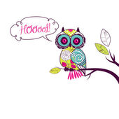 Cute Vector Owl — Stock Vector